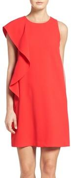 Chelsea28 Women's Asymmetrical Ruffle Shift Dress