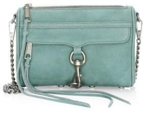 Rebecca Minkoff Mini Mac Nubuck Crossbody - DUSTY GREEN - STYLE
