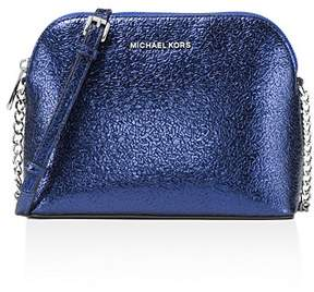 MICHAEL Michael Kors Dome Metallic Large Leather Crossbody - 100% Exclusive - ELECTRIC BLUE/SILVER - STYLE