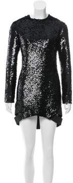 Anthony Vaccarello Fall 2016 Sequined Cutout Dress