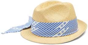 Miu Miu Cotton scarf-embellished straw hat