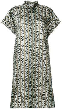 Forte Forte leopard striped shirt dress