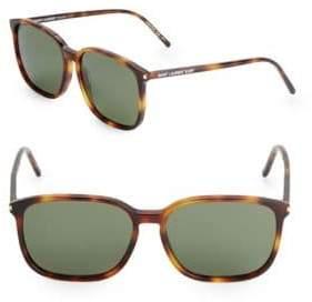 Saint Laurent 58MM Rectangle Sunglasses