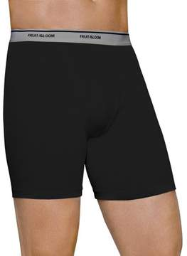 Fruit of the Loom Big Men's Black and Gray Boxer Briefs, 4 pack