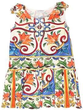 Dolce & Gabbana Maiolica & Leopard Interlock Dress