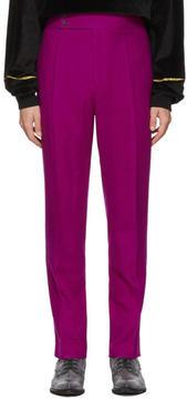 Haider Ackermann Pink Wool Trousers