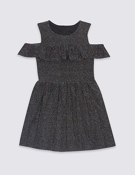 Marks and Spencer Frill Cold Shoulder Dress (3-14 Years)