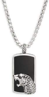 Effy Onyx, Black Sapphire and Sterling Silver Pendant Necklace