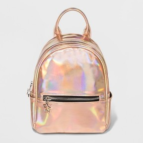 Mossimo Women's Metallic Backpack Handbag Pearlized Copper