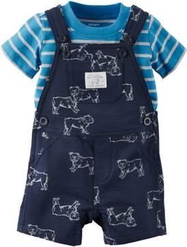 Carter's Baby Boys Bulldog Shortalls Set