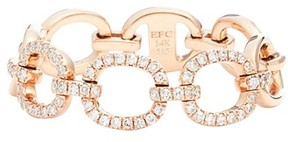 Ef Collection Women's Flexible Chain Link Diamond Ring