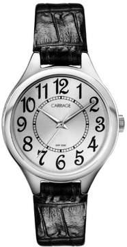 Timex Carriage by Women's Carolyn Watch, Black Croco Pattern Strap