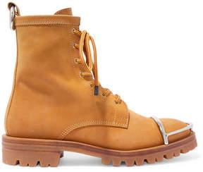 Alexander Wang Lyndon Embellished Nubuck Ankle Boots - Tan