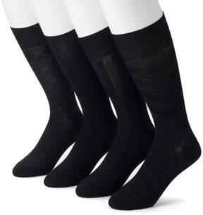 Croft & Barrow Men's 4-Pack Textured Chevron Dress Socks
