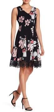 Donna Ricco Crepe Scuba Dress