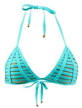 Beach Bunny Turquoise Triangle Top Hard Summer Aqua.