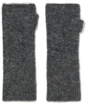 Isabel Marant Cruz Knitted Fingerless Gloves - Dark gray