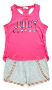 Juicy Couture Little Girl's Two-Piece Hi-Lo Top and Shorts Set