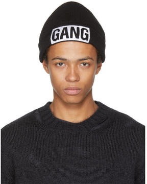 Neil Barrett Black Gang Beanie
