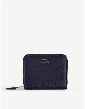 Smythson Burlington zip leather coin purse
