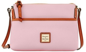 Dooney & Bourke Pebble Grain Ginger Pouchette Shoulder Bag - BABY PINK - STYLE