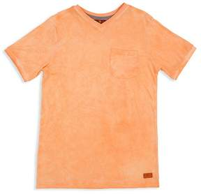 7 For All Mankind Boys' Mineral-Washed V-Neck Tee - Little Kid