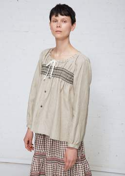 Comme des Garcons Embroidered Blouse