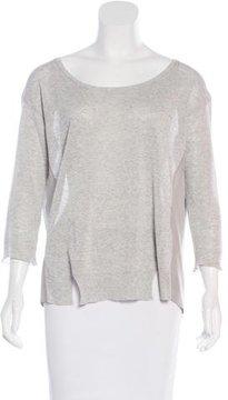 Band Of Outsiders Silk-Paneled Sweater