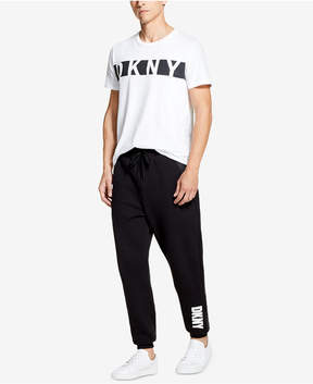 DKNY Men's Athleisure Relaxed-Straight Fit Logo-Print Joggers, Created for Macy's