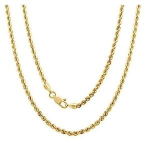 Alpha A A 14kt Yellow Gold Rope Chain, 20