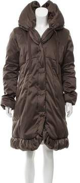 Tahari Ruffle Trimmed Down Coat