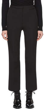 Carven Black Crepe Crop Flare Trousers