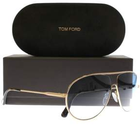 HUGO BOSS BOSS by Men's B0697PS Rectangular Sunglasses, Black/Dark Ruthenium/Copper SP, 63 mm