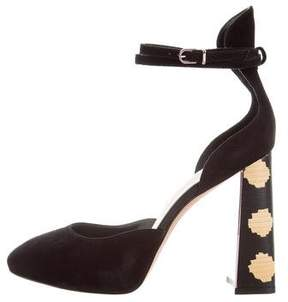 Sophia Webster Suede Ankle Strap Pumps