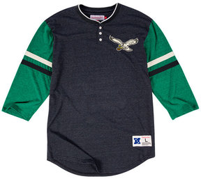 Mitchell & Ness Men's Philadelphia Eagles Home Stretch Henley 2.0 Longsleeve T-Shirt