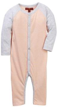 7 For All Mankind Raglan Sleeve Coverall (Baby Boys)