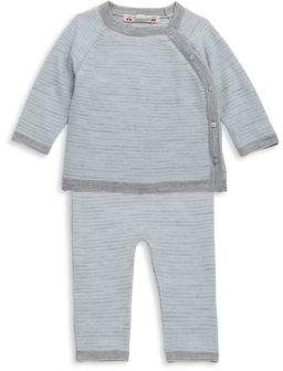 Bonpoint Baby's & Toddler's Two-Piece Striped Wool Top and Pants Set