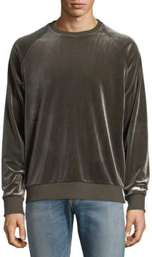 Ovadia & Sons DEX VELVET SWEATSHIRT DUST