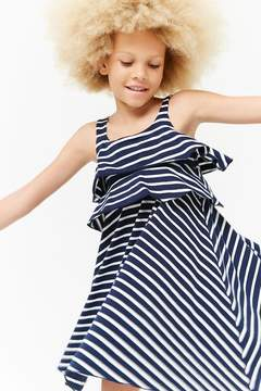 Forever 21 Girls Striped Flounce Dress (Kids)