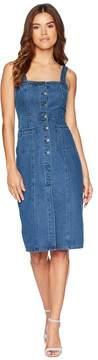 BB Dakota Lauren Button Front Denim Midi Dress Women's Dress