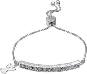 Brilliance+ Brilliance Watch Over Me Adjustable Bracelet with Swarovski Crystals