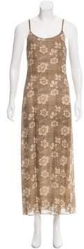 Calvin Klein Collection Floral Print Silk Dress