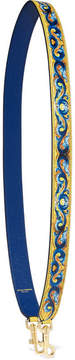 Dolce & Gabbana Printed Textured-leather Bag Strap - Blue - BLUE - STYLE
