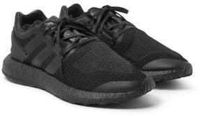 Y-3 Pure Boost Rubber-Trimmed Primeknit Sneakers