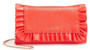 Ted Baker Ruffle Leather Matinee Wallet