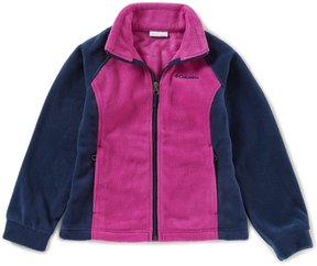 Columbia Little Girls 2T-4T Benton Springs Color Block Fleece Jacket