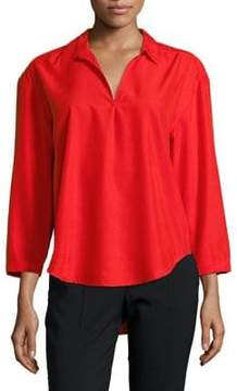 Calvin Klein Jeans Sueded Modal-Blend Blouse