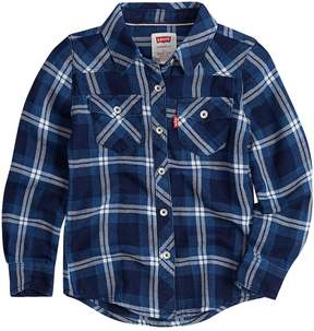 Levi's Toddler Girl Western Plaid Shirt