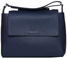 Orciani Sveva M Blue Shoulder Bag