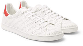 Vetements Perforated-Logo Leather Sneakers